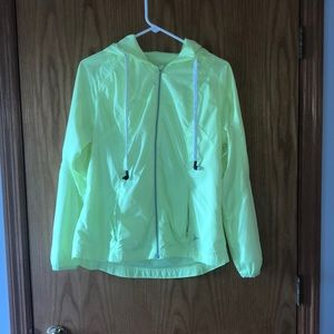 Neon Yellow Rain Jacket